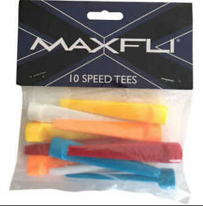 Maxfli Multi Coloured Speed Tees (10 packs of 10)